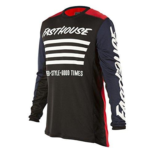 Fasthouse Jersey Stripes Rot Gr. L