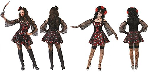 Dia De Los Muertes - Damenkostüm, Größe (Kostüm Muerte La De)
