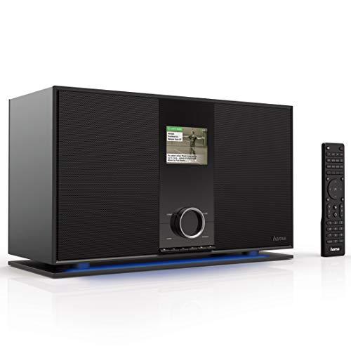 "Hama Internetradio mit 2.1 Soundsystem (Spotify, WLAN/DAB+/UKW/Bluetooth/USB, 70 Watt RMS mit Subwoofer, Digitalradio mit 3,2"" Farbdisplay, Multiroom, Fernbedienung, gratis UNDOK Radio App) schwarz"