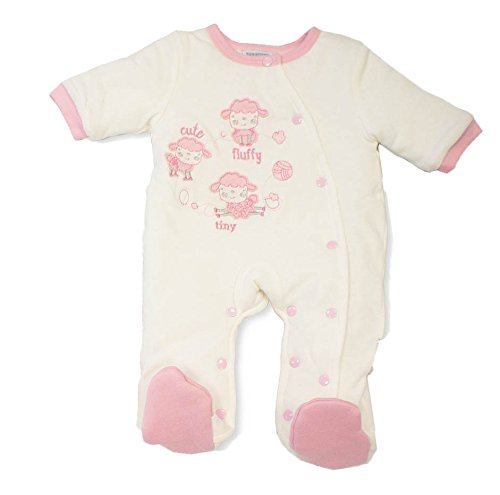 Baby Best Buys Baby Mädchen (0-24 Monate) Schneeanzug pink Pink, Cream Neugeborene Zip-hooded Thermal
