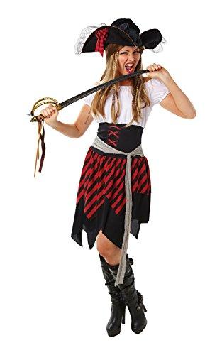 Damen Pirat, Erwachsene Kostüm–Kleine (Adult Halloween Kostüme Piraten Lady)