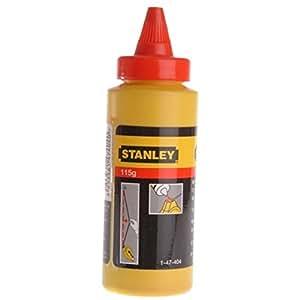 Stanley Schlagschnurkreide (115 g, gut haftend, sehr wasserfest, schwer löslich, in Kunststoffdose) 1-47-404, rot