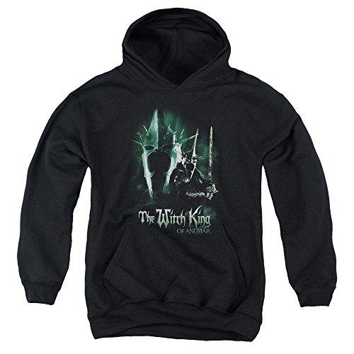 Lord of the Rings - Der Herr der Ringe - Youth Hexenkönig Kapuzenpulli, X-Large, Black (Sauron Helm Kostüm)