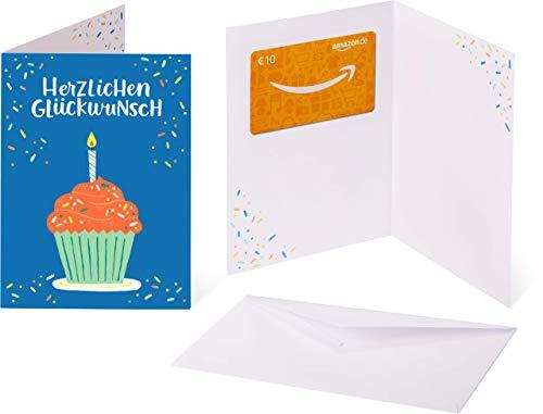 Amazon.de Geschenkkarte in Grußkarte - 10 EUR (Geburtstagsparty)