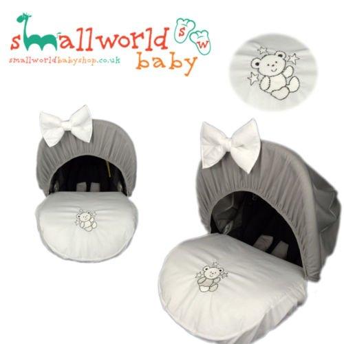 personalisierbar grau Teddy Baby Auto Sitzbezug (Auto Neugeborenen Sitzbezüge)