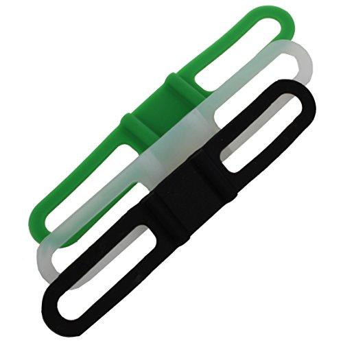 TOOGOO (R) 10 bicicleta Ciclo elastico de silicona CORREA VENDAJE TIE LINTERNA CUENTAKILoMETROS GPS
