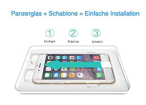 XeloTech iPhone 8 / iPhone 7 Premium Panzerglas Folie mit Schablone für hohe Passgenauigkeit | Unterstützt 3D Touch| Sehr hohe Qualität . - 2