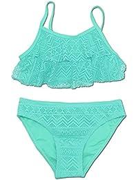 SHEKINI Niñas Niños Dos Pieces Bikini Set Lace Swimsuit 2 Piece Bañador Swimwear