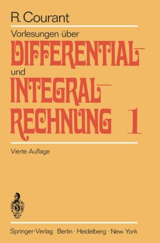 Buchcover Vorlesungen über Differential- und Integralrechnung Bd. 1: Funktionen einer Veränderlichen
