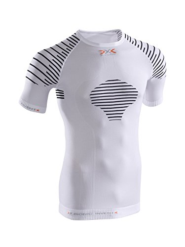 X-Bionic Erwachsene Funktionsbekleidung Man Invent Light UW Shirt SH SL, White/Black, XXL, I020293 -