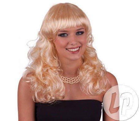 Pierro´s Kostüm Perücke Cora blond Zubehör Lockenperücke mit -