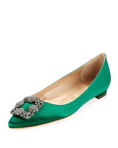 Arc-en-Ciel Damenschuhe runden Zeheebenen Grün