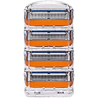 Yzibei Calidad Cinco Capas de Hoja de Afeitar Manualmente Razor Una Caja de Naranja 4 tabletas