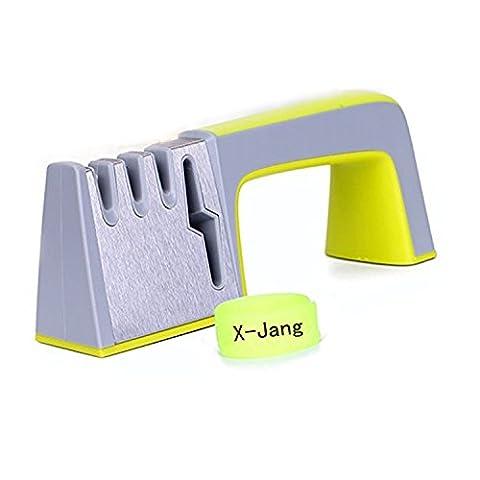 X-Jang Messerschärfer Knife Sharpener, steel material ,also schärfen Schere/ Keramikmesser , Professionelles 4 Stufen Schleif system