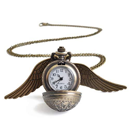 GaLon Quarz Taschenuhr, Sweater Chain Bronze Harry Potter Wings Taschenuhr Casual Style Halskette Taschenuhr - - Harry Hat Mann Kostüm