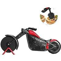Cortador de pizza para motocicleta, hoja de acero inoxidable, regalo de cocina con soporte