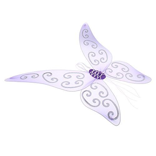 Homyl Feenflügel Fee Flügel Zauberwelt Kinder Mädchenkostüm Feenkostüm - - Tanz Kostüm Fee Flügel