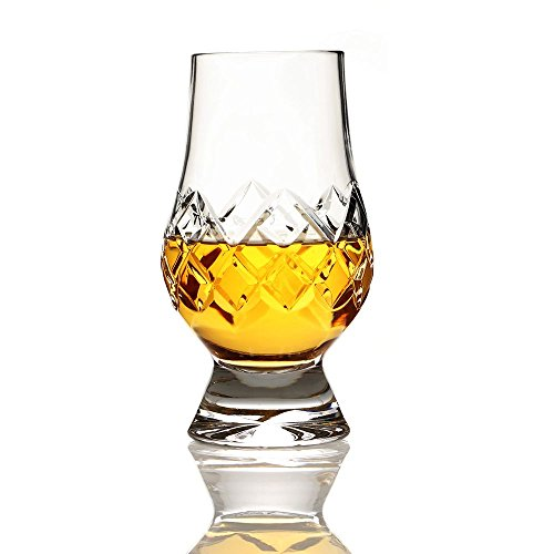 Eburya Glencairn Kristall Tasting Glas - Das Original Cut Crystal Glass - handgefertigt in Schottland Cut Glas Whiskey