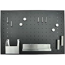 nanook - Memoboard Magnetboard, inkl. Zubehör, 50 x 35 cm - pulverbeschichteter Stahl