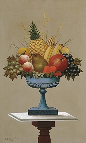 Charles Sidney Raleigh – Fruit with Blue-footed Bowl Kunstdruck (45,72 x 60,96 cm) (Bowl Blue Footed)