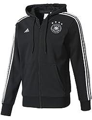 adidas Dfb 3S Hood Fz Sudadera Federación Alemana de Fútbol, Hombre, Negro (Negro / Blanco), L