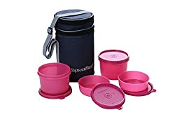 Signoraware Executive Lunch Box with Bag 15 cm Pink