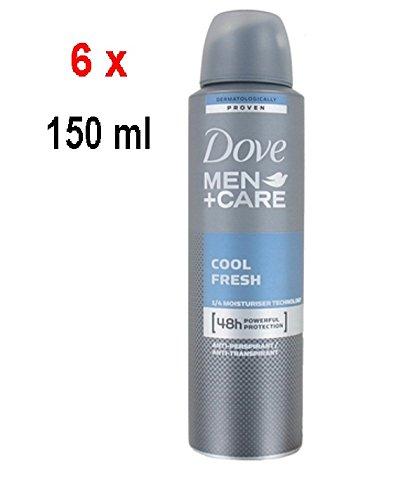 Dove Men Care Deodorante Cool Fresh Spray, Confezione da 6