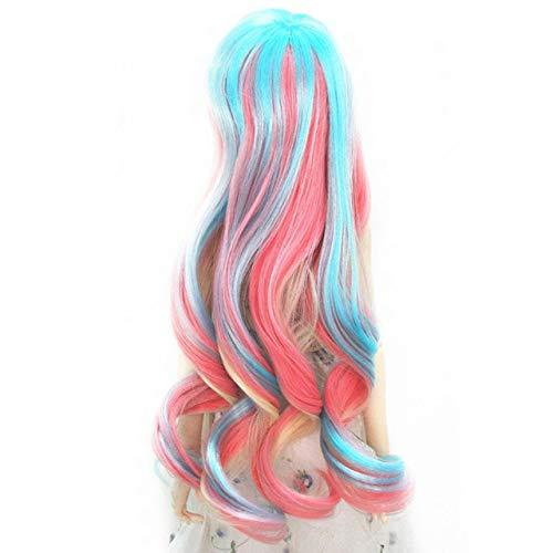 BEESCLOVER Fantaisie Longs Bouclés Perruque De Cheveux Perruque Avec Bang Pour 1/3 BJD DIY Faire Coloré Mode Poupées Cosplay Cheveux Poupées Accessoires EINWEG 5