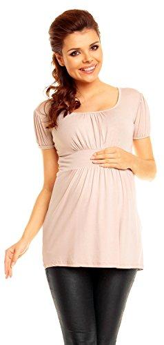 Zeta Ville - maternité shirt de grossesse top à taille froncée - femme - 408c écru