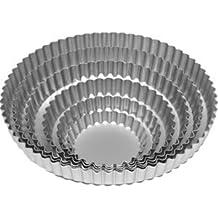 Utensilios para hornear de aluminio anodizado Continental Flan 10 cm - Base extraíble (1 x