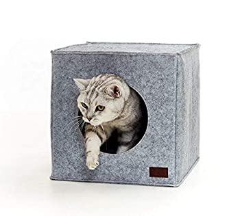Panier chat de PiuPet® Coussin inclus | Compatible avec IKEA® Kallax étagères