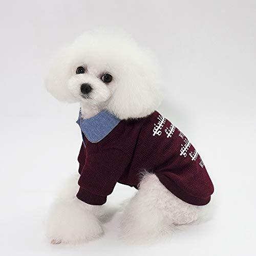 (艾达 Hundebekleidung Herbst Winter Kleidung 18 koreanische Version Fake Two Pet Kleidung Grosshandel)
