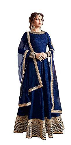 Special Mega Sale Festival Offer C&H Blue Banglory Designer Semi-Stitched Anarkali Suits