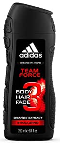 Adidas Team Force 3in1 Body, Hair and Face Shower Gel for Him 250ml