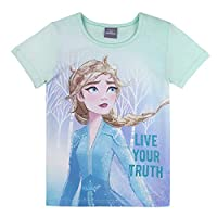 Disney Girl's Frozen T-Shirt, Blue (Fair Aqua 601), 3 Years