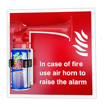 handheld-gas-horn-suitable-as-a-fire-alarm-includes-sign-and-clip