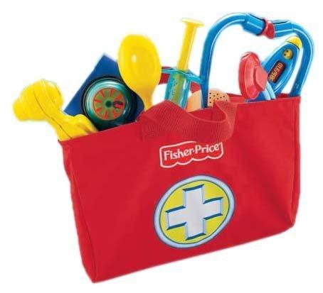 Mattel Fisher-Price L6556 - Brilliant Basics Medical Kit, Arzttasche (Kind Arzt Kit)