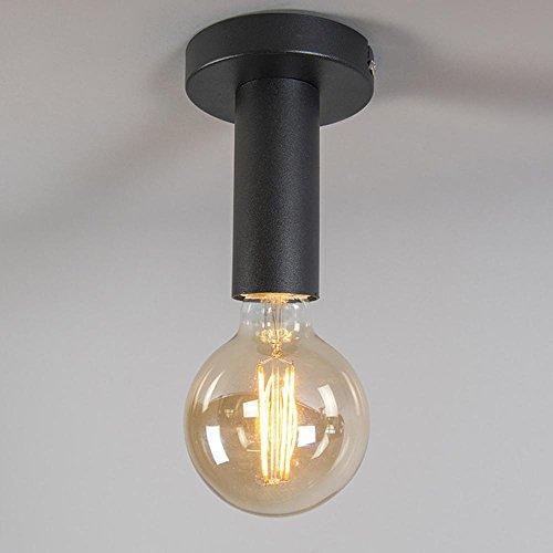 Leuchten LED Deckenstrahler, LED-Deckenleuchte Elegantem 1-flammige Blumenförmig, Deckenlampe, Spots, Wohnzimmerlampe, Deckenspot, Lampe Kinderzimmer, Deckenbeleuchtung, Deckenlampe Wohnzimmer-Kinderzimmer-Schlafzimmer, LED Lampe Nickelmatt Metall , SCHWARZ