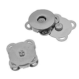 Little Freckle Silberfarbener Magnetverschluss, zum einnähen, 19 mm, ideal zum Nähen, Basteln Kleidung, Tasche, Sammelalben und mehr, 10 Sets