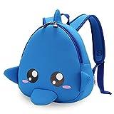 FANDARE Cute Rucksack Kinderrucksack mit Sicherheitsleinen Kinder Schultasche 1-3 Jährige Jungen/Mädchen Kindergarten Rucksack Polyester Blau