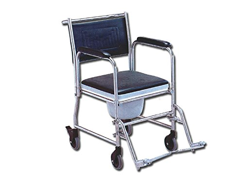 GIMA FS-691S Commode Rollstuhl, Edelstahl