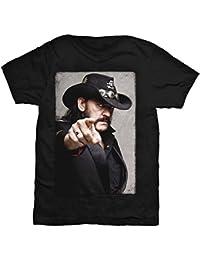 Lemmy Herren T-Shirt Portrait schwarz. Offiziell lizenziert