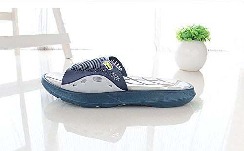 Slip On Pantofole Doccia Antiscivolo Sandali House Mule Mesh Uppers Scarpe piscina bagno Slide per adulti Grey