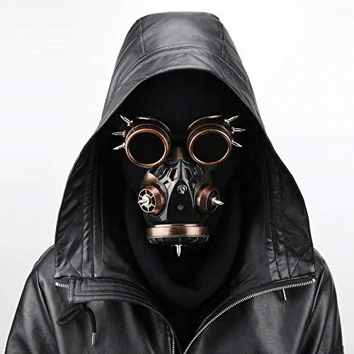 YLYWCG Gasmaske Cosplay, Steampunk-Maske, Steampunk-Maske Männlich, Steampunk Maske Schwarz, Steampunk Maskerade Maske, Halloween Requisiten Herren/Herren Tasche (Color : 2)
