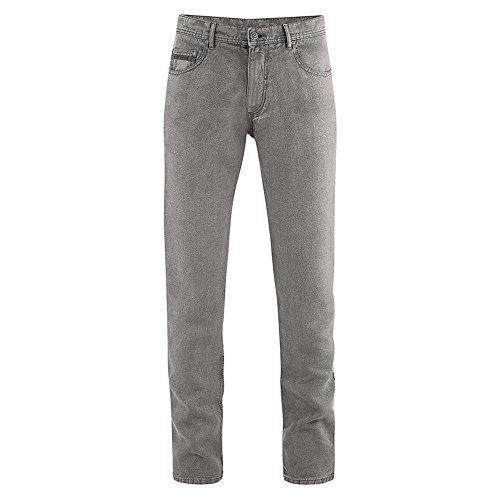 HempAge Damen/Herren 5-pocket Jeans aus reinem Hanf Asphalt