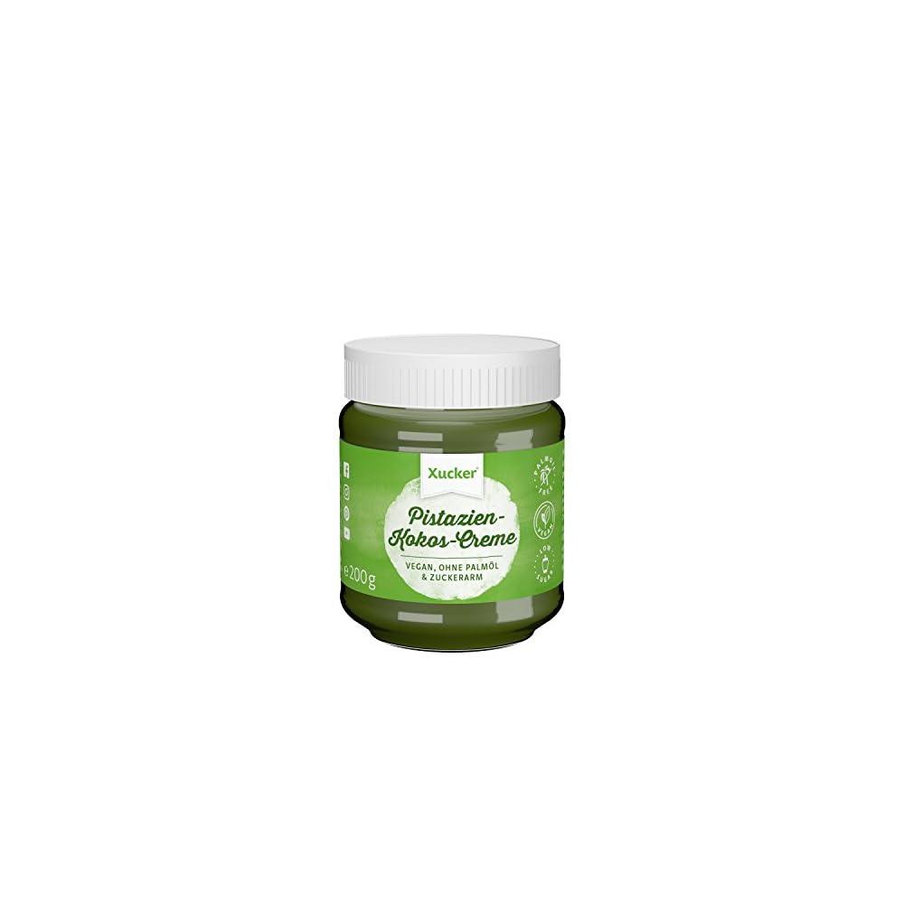 Xucker Pistazien Kokos Creme Mit Xylit Brotaufstrich Ohne Palml 1 X 200 G Glas