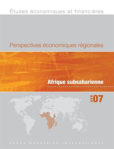 Regional Economic Outlook, April 2007 par INTERNATIONAL MONETARY FUND