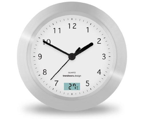 Thermometer Stand (Trendworx 4044 Badezimmeruhr mit Saugnapf und digitalem Thermometer)