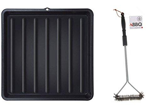 MKL Reinigungs-Set für Grillroste bestehend aus 1 x Grillrostwanne und 1 x Grillrostbürste 55 cm