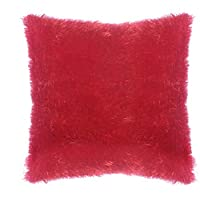وسادة القطيفة 45 × 45 سم من ترف- أحمر